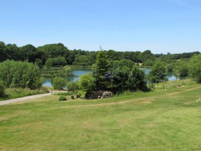 view from the gite at l'angottiere carp fishery offering exclusive carp fishing in france