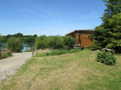 Picture showing The Lodge location at l'angottiere carp fishery offering exclusive carp fishing in france