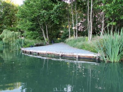 The Point swim at L'Angottiere carp fishery offering exclusive carp fishing in france