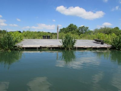 The Hole swim at L'Angottiere carp fishery offering exclusive carp fishing in france