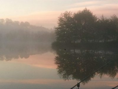 Late October at L'Angottiere Carp Fishery in Normandy, France offering exclusive carp fishing in France.