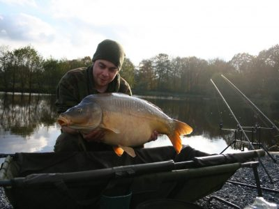 carp from L'Angottiere carp fishery offering exclusive carp fishing in france caught by Robin
