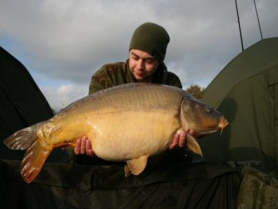 carp from L'Angottiere carp fishery offering exclusive carp fishing in france caught by Robin from Holland