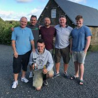 Ben Whiting and party 2018 at L'angottiere carp fishery