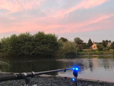 Dusk at L'Angottiere carp fishery 2018