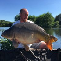 carp caught at L'Angottiere carp fishery in August 2018