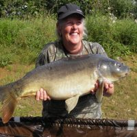 carp caught at l'angottiere carp fishery whilst carp fishing in france