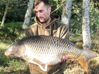 carp caught at L'angottierre carp fishery offering exclusive carp fishing in france