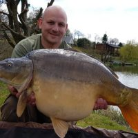 carp capture at l'angottiere carp fishery