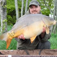 carp captures at L'Angottiere carp fishery