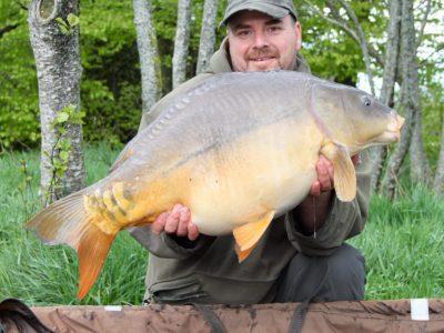 carp captures at L'Angottiere carp fishery