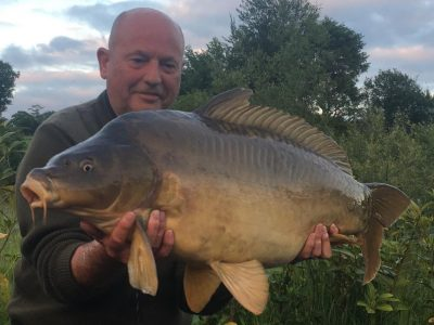 carp caught at L'angottiere carp fishery offering exclusive carp fishing in france