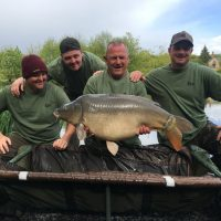 carp caught at L'angottiere carp fishery. carp fishing in france