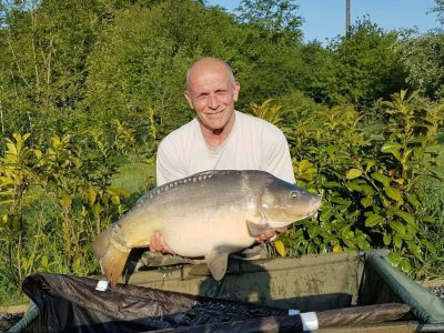 carp caught by Addy at l'angottiere carp fishery