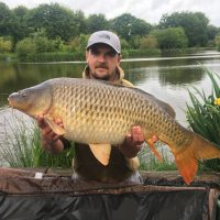 carp caught at L'Angottiere carp fishery offering exclusive carp fishing in normandy