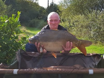 carp caught at L'angottiere carp fishery. Fishing in France