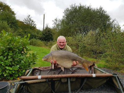 carp caught at L'angottiere carp fishery. Fishing in France