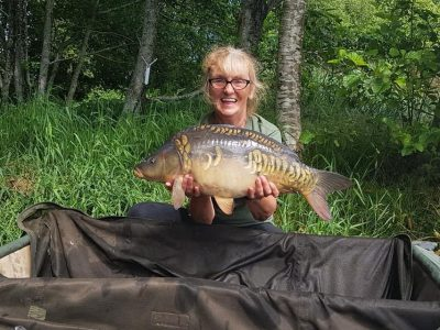 carp from L'Angottiere carp fishery in france, normandy