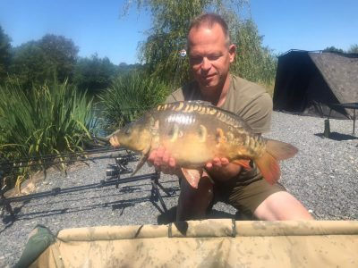 One for the future. Carp at L'Angottiere carp fishery