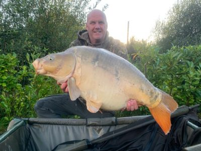 mirror carp from L'Angottiere carp fishery