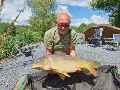 30lb carp from L'Angottiere carp fishery