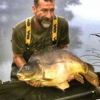 mirror carp from L'Angottiere carp fishery in france, normandy