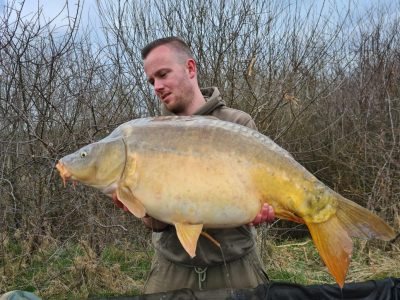 Carp from L'Angottiere carp fishery offering carp fishing in Normandy