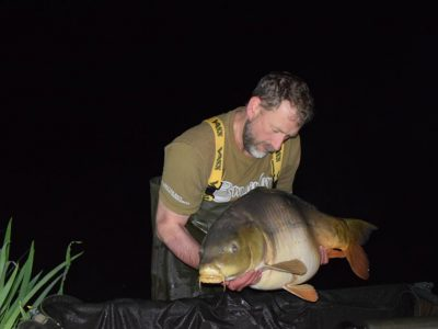 carp caught at L'Angottiere carp fishery in northern france